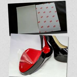 7fec7c9ccd8 Details about 3M Heel Clear Sole Protector 6X6 For Red Bottoms Louboutin  And Designer Shoes