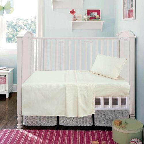 CREAM LACE DETAIL COT BED COTTON SHEET SET
