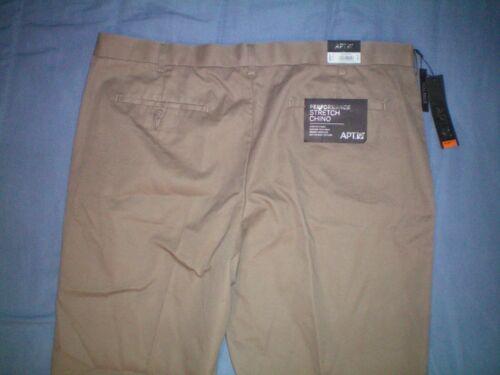 Neuf Avec Étiquettes Homme APT 9 Performance Stretch Pantalon Chino Coupe Slim Flat Front 55 $