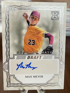 2020 Leaf Ultimate Draft Max Meyer XRC Auto RC Autographed Rookie Marlins