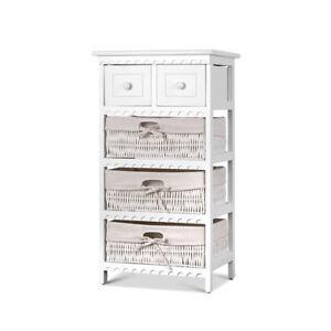 Wicker Baskets Storage Dresser