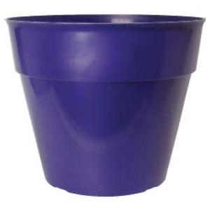 Plastic Round Garden Plant Pot Flower Pots Planter Wisteria Wash Purple22cm