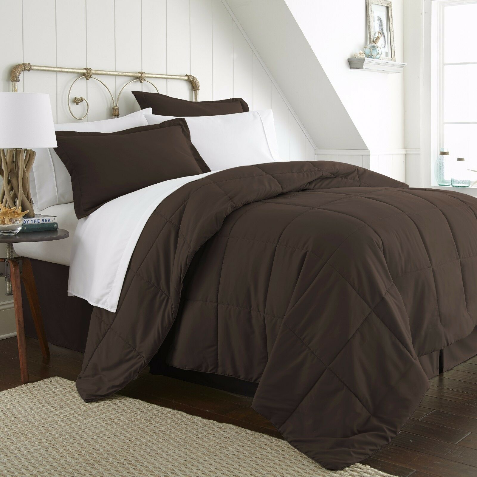 8 Beautiful Colors! Home Collection Premium Quality 8-Piece Bed in a Bag