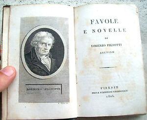 1825-FAVOLE-E-NOVELLE-DI-LORENZO-PIGNOTTI-DA-AREZZO-SPLENDIDA-LEGATURA