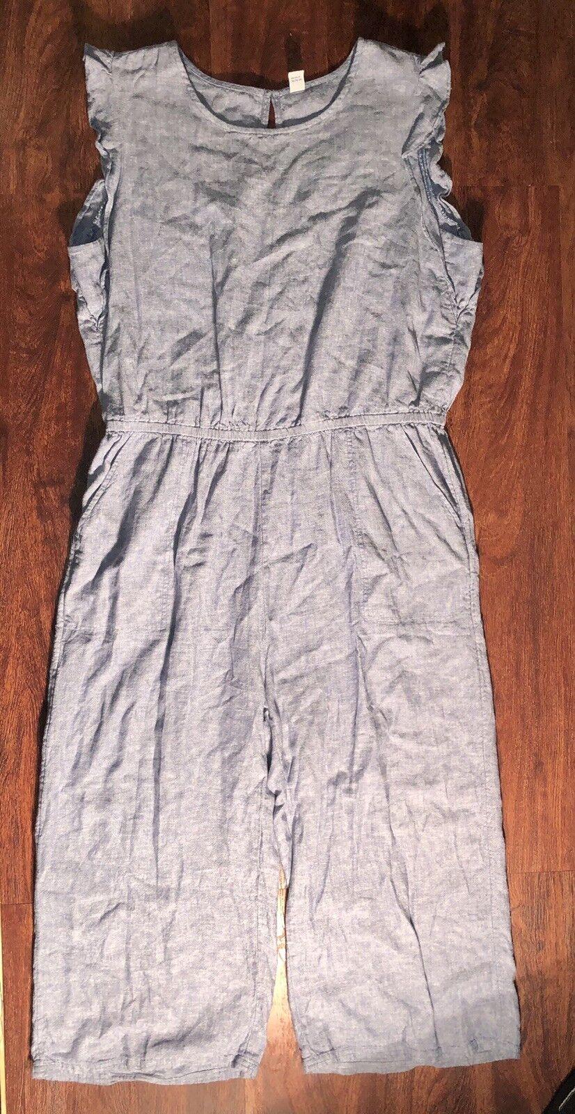OLD NAVY Women's Light bluee Sleeveless JumpSuit Size Extra Large Regular