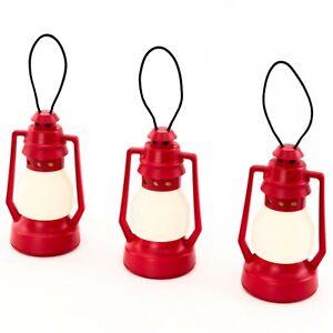 IKEA-VINTERFEST-Lampe-Laterne-3er-Set-Dekobeleuchtung-rot-8-5cm-LED