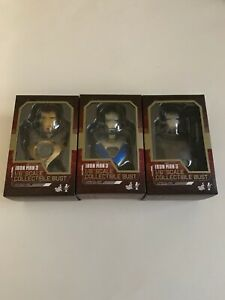Iron-Man-3-1-6-Scale-Collectible-Bust-Set-of-3-BRAND-NEW-READ