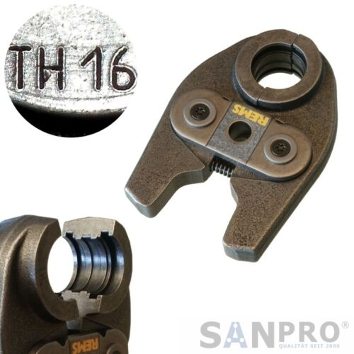 Für viele Verbundrohrsysteme REMS MINI Pressbacke TH16 Presszange Profil TH 16