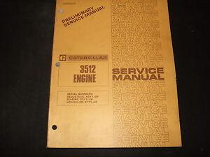 cat caterpillar 3512 engine service shop repair book manual 49y 50y rh ebay ca Caterpillar Brochure Caterpillar Brochure