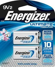 2-Pack Energizer Ultimate 9V Batteries, L522BP2 Lithium 9 V Battery EXP 2026 2x1