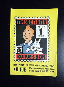 Grand-point-Timbre-Tintin-Kuifje-039-s-Bon