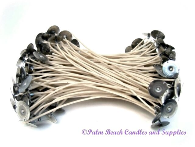 "50 Candle Wicks 6"" +FREE Xtra Tabs Candle Making Supplies"