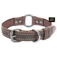 Browning Classic Brown Leather Dog Collar Medium W/ Buckmark Logo