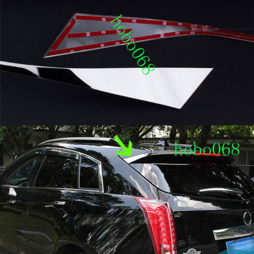 2PCS 304 Stainless Spoiler Rear Decorative Tail Trim For Cadillac SRX 2010-2015