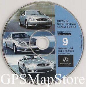 2001 2002 2003 2004 MERCEDES CLK320 CLK430 CLK500 CLK55 NAVIGATION MAP DISC CD 2