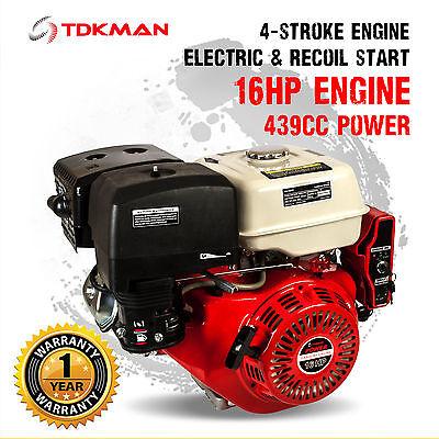 16HP Petrol Stationary Engine Motor 4-Stroke OHV Horizontal Shaft 13HP Replace