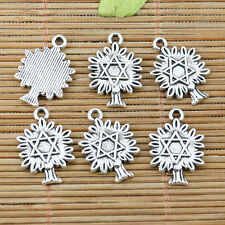 14pcs Tibetan Silver Color Arbre de Noël design Charms EF2308