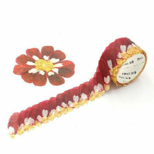 200PCS//Roll Masking Scrapbook Sticker Flower Petals Tape Washi Tape DIY Decor