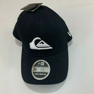 QuickSilver-NEW-ERA-39THIRTY-Hat-Small-Medium-High-Crown-Black-S-M-Brand-new-NWT
