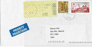 Austria 2003 Poysdorf Cancel Airmail to USA Machine Stamp Stamps Cover Ref 23476