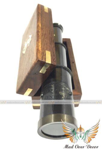 VINTAGE POCKET ANTIQUE BRASS MONOCULAR TELESCOPE NAUTICAL PIRATE SPYGLASS SCOPE