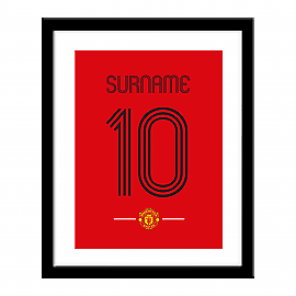 Manchester United F.C - Personalised Print (RETRO SHIRT)