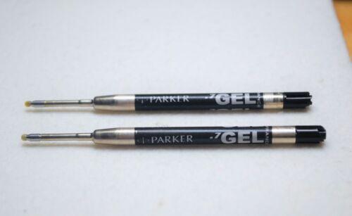 2 x Parker gel refills black in Parker Tubes Made in France Current model New