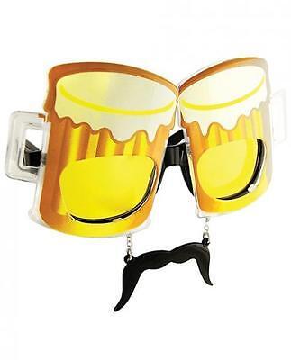 Sun Staches Beer Men Sunglasses Eye Glasses Funny Mask Gag Gift Halloween