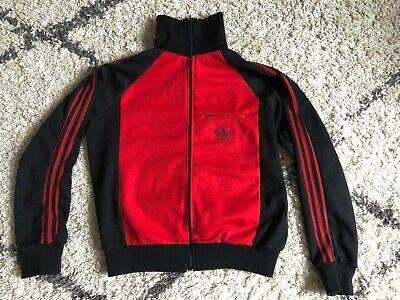 Abile Veste Adidas Rouge Et Noire Vintage - Taille S Facile E Semplice Da Gestire