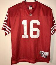 Joe Montana San Francisco 49ers Reebok NFL Football Stitched Jersey Mens Size L
