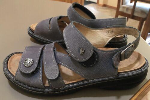 Finn Comfort Gomera 38 Gray Nubuck Sandals Women's