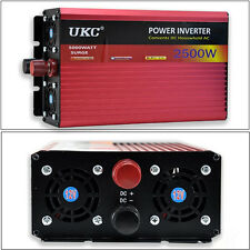 2500W Car SUV DC 12V to AC 220V Power Inverter Charger Converter For Electronic