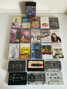 22-x-Job-Lot-of-Cassette-Tapes-Albums-amp-Singles-Metallica-R-E-M-Kiss-Now