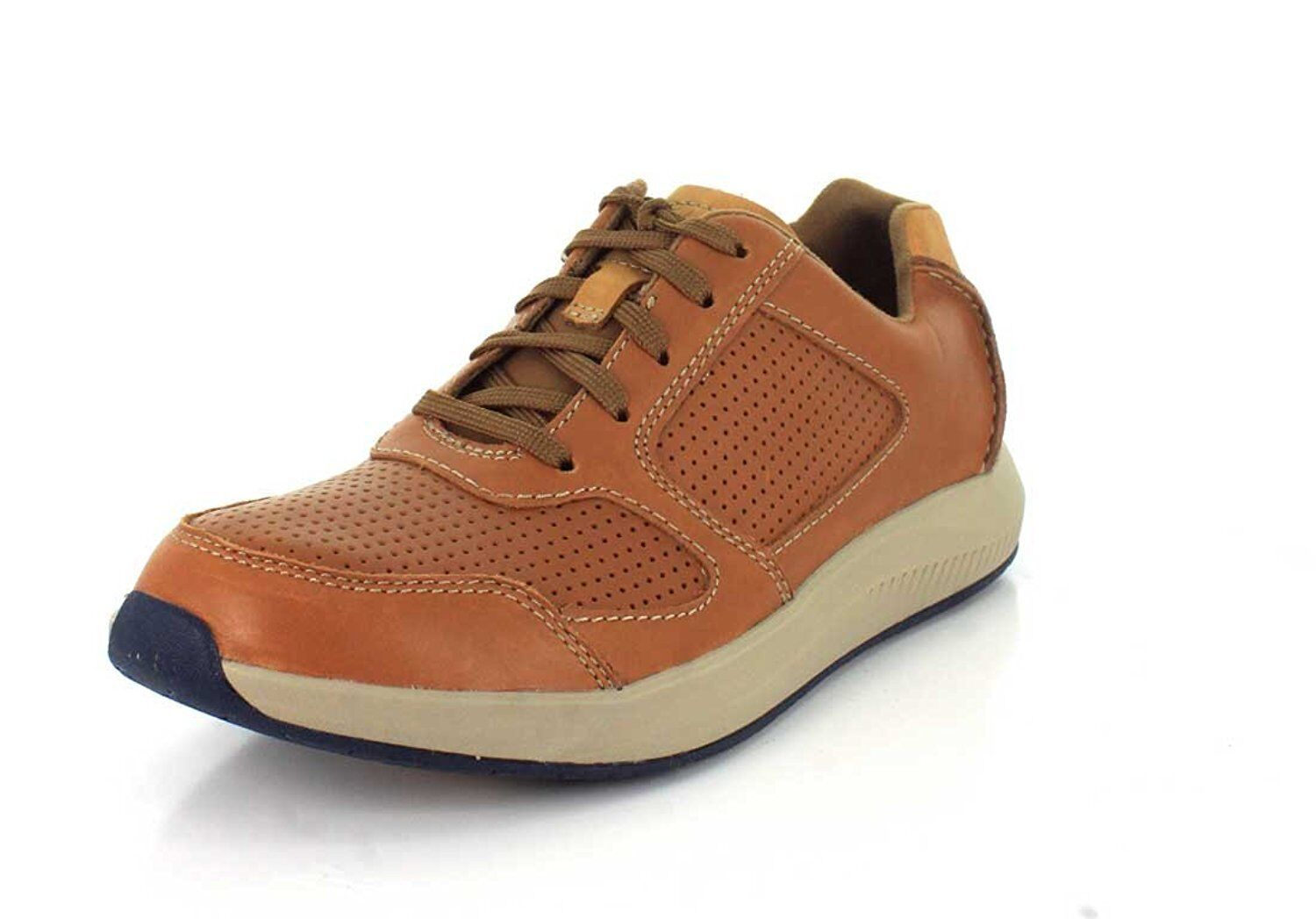 Clarks Mens Sirtis Mix Dark Tan Sneaker - 8- Pick SZ color.