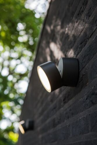 LED Außenleuchte Wandlampe 11 W Spot Beleuchtung Eco-Light Lutec Trumpet 6260 GR
