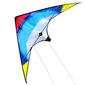 Free-Shipping-New-38-Inch-Dual-Line-Stunt-Kites-Blue-Kite-Outdoor-Fun-Sports