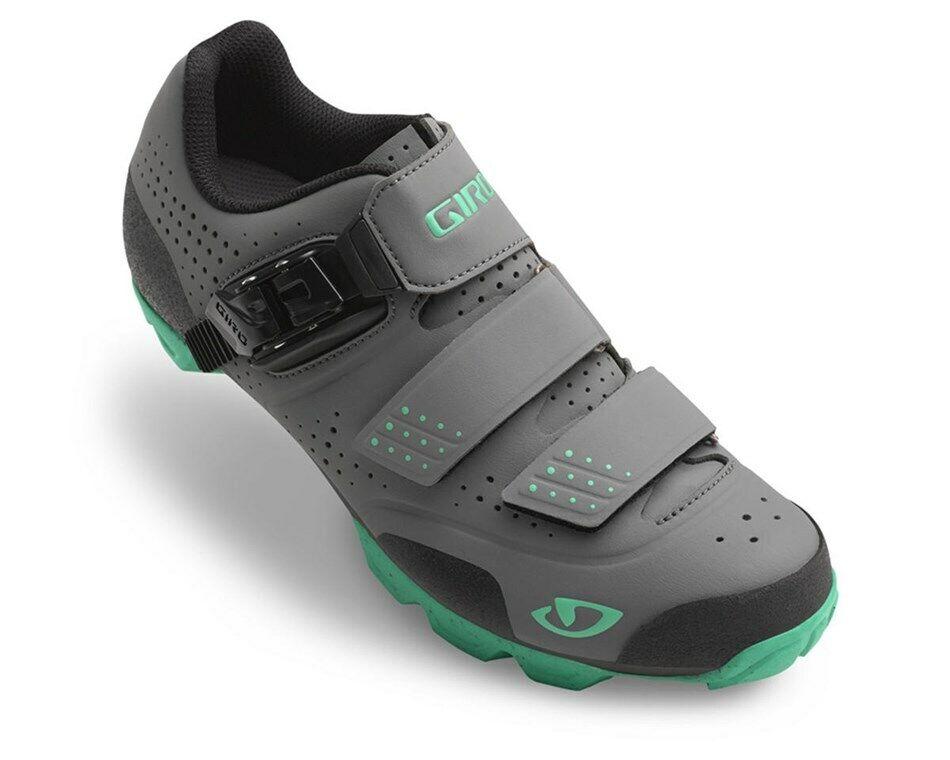 Giro Manta R Cycling Shoe Charcoal/Turquoise Size 38 - Brand New