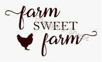 Farm Sweet Farm Stencil In Script Chicken Font Signs Pillows Wall Hangings