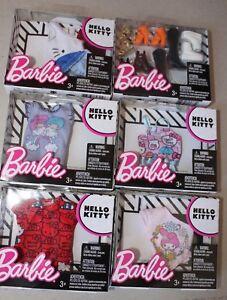Barbie-Sanrio-HELLO-KITTY-Fashions-LOT-Tops-Accessories-NEW