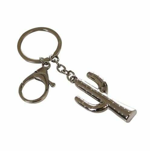 50168 Schlüsselanhänger Kaktus aus Metall silber mit Ring /& Haken