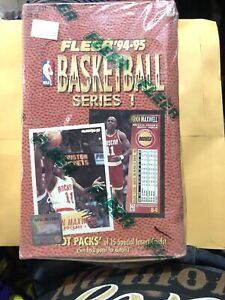 1994-95-Fleer-Basketball-Series-1-Factory-Sealed-Hobby-Box-36-Pks-Jordan