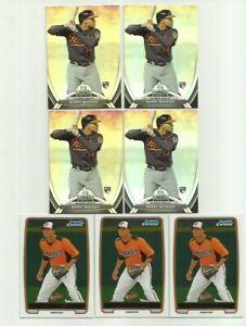 Lot-7-Manny-Machado-2012-Bowman-Chrome-BCP217-2013-Bowman-Platinum-RC-Rookie