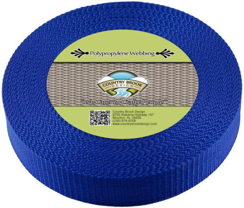 Country Brook Design® 1 1//2 Inch Blue Heavy Polypro Webbing 100 Yards