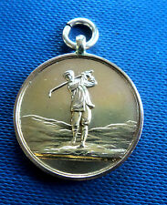EARLY Super 9ct Rose Gold Golfing Fob Medal St. Andrews Institute Golf Club 1912