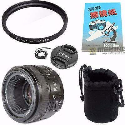 YONGNUO YN50MM F/1 8 Fixed Auto Focus Lens For Nikon  D3100,D3200,D70,D80,D90 | eBay