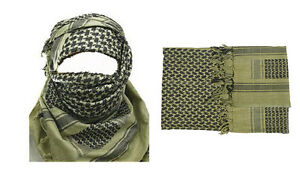 MILITARY-ARMY-ISSUE-O-D-SHEMAGH-SCARF-SCRIM-VALE-VAIL-ARAB-SAS-RETRO-AFGAN
