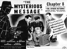 The Spider Returns - Cliffhanger Movie Serial DVD  Warren Hull  Mary Ainslee