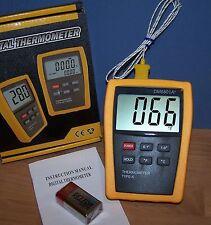 Scientific Digital Thermometer 1 Sensor Probe K Type Hvac Tool Temperatur 6801
