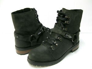 1fe28bfbdd9 Details about UGG FRITZI LACE UP WOMEN BOOTS LEATHER BLACK US 9.5 / UK 7.5  /EU 40.5