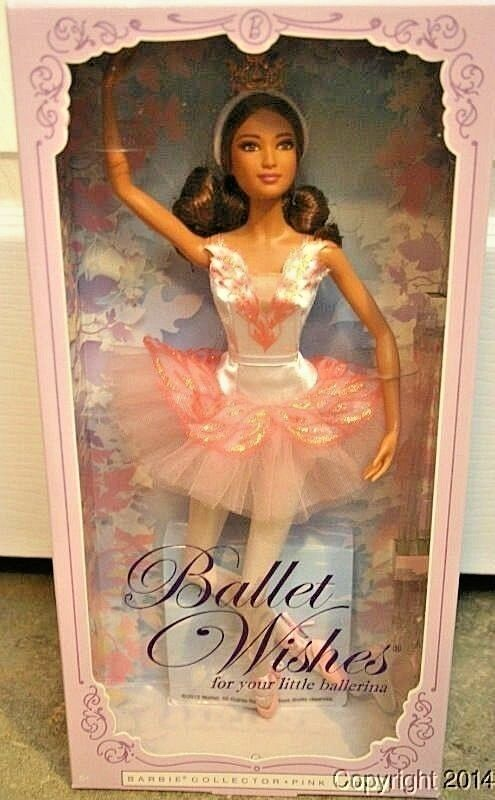 BARBIE BALLET WISHES NRFB - Rosa LABEL new model muse doll collection Mattel